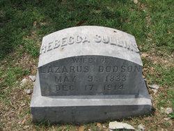Rebecca Louisa <I>Sullins</I> Dodson