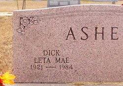 """Leta Mae """"Dick"""" <I>Stewart</I> Asher"""