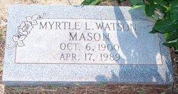 Myrtle Lee Lowell <I>Watson</I> Mason