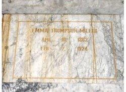 Emma <I>Thompson</I> Miller