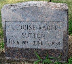 H. Louise Rader Sutton