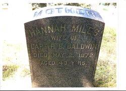 Hannah <I>Miles</I> Baldwin