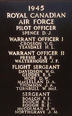 Flight Sergeant Donald William Hope