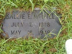 "Sarah E. ""Sallie"" McNiel"