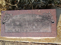 Louisa Cumi <I>Robbins</I> Abbott