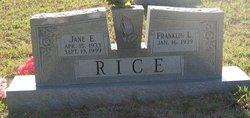 Jane E Rice