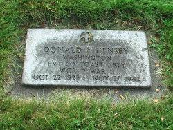 Pvt Donald F. Hensey