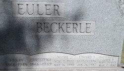 Wilma J <I>Euler</I> Beckerle