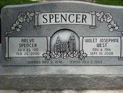 Violet Josephine <I>West</I> Spencer