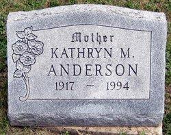 Mrs Kathryn M. <I>Miller</I> Anderson