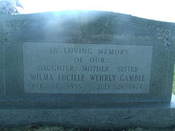 Wilma Lucille <I>Wehrly</I> Gamble