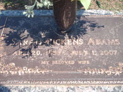 Sarah <I>Pickens</I> Adams