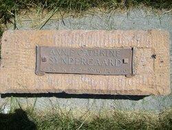 Annie Katherine <I>Christensen</I> Syndergaard