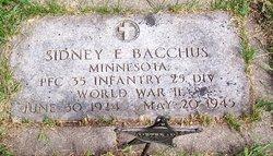 PFC Sidney E Bacchus