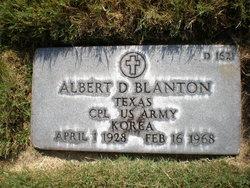 Albert D Blanton
