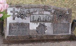 Nancy I. <I>Blanton</I> Lang