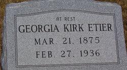Annie Georgia <I>Kirk</I> Etier