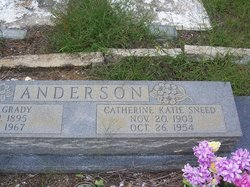 "Catherine ""Katie"" <I>Sneed</I> Anderson"
