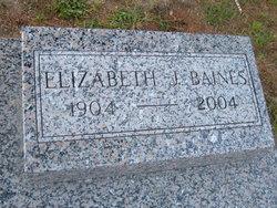 Elizabeth Jane <I>Tait</I> Baines