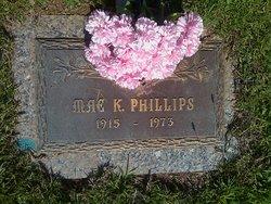 "Lizzie Mabel ""Mae"" <I>King</I> Phillips"