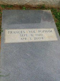Frances Popham <I>Yoe</I> Franklin