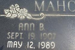 Ann <I>Bond</I> Mahoney