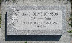 Jane Olive <I>Johnson</I> Johnson