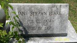 """Martha Jane """"Jane"""" <I>Strawn</I> Flake"""