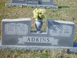 Berlie Etta <I>Lewis</I> Adkins