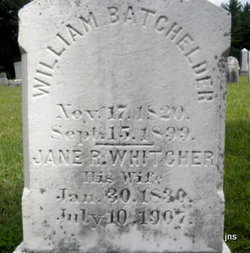 Jane R <I>Whitcher</I> Batchelder
