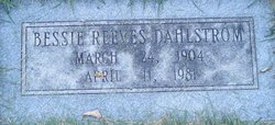 Bessie <I>Reeves</I> Dahlstrom