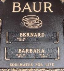 """Barbara Ann """"Barb"""" <I>Badstibner</I> Baur"""