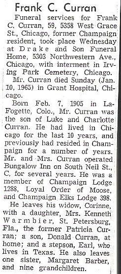 Frank C Curran