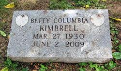 Betty F. <I>Columbia</I> Kimbrell