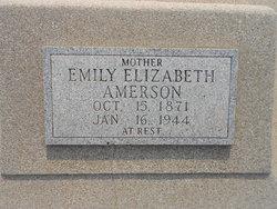"""Emily Elizabeth """"Bessie"""" <I>Middlebrooks</I> Amerson"""