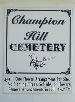 Champion Hill Cemetery