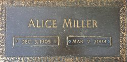Alice <I>Smith</I> Miller
