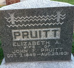 "Elizabeth Anne ""Lizzy"" <I>Calvert</I> Pruitt"