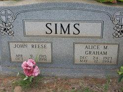 Alice M. <I>Graham</I> Sims