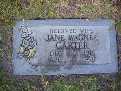 Jane Frances <I>Wagner</I> Carter