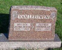 """Jacobje """"Jacoba"""" <I>Boxum</I> Van Leeuwen"""