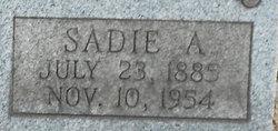 Sadie A Baker