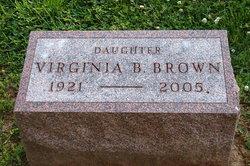"Virginia ""Snookie"" <I>Bennett</I> Brown"