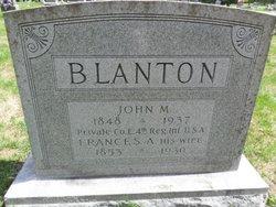 Frances A Blanton
