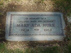 Mary Ada Hurr