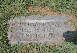 Edith <I>Cundiff</I> Walker