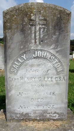 Sally Buchanan Floyd <I>Johnston</I> Lee