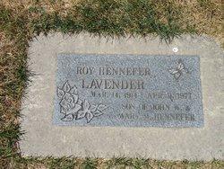 Roy Hennefer Lavender