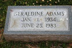 Geraldine <I>Carter</I> Adams