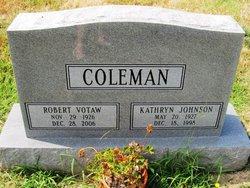 Kathryn <I>Johnson</I> Coleman